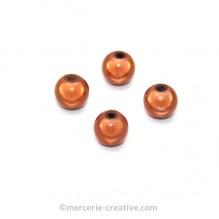Perles magiques 8 mm cuivre x6