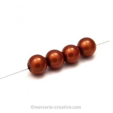 Perles magiques 10 mm cuivre x4