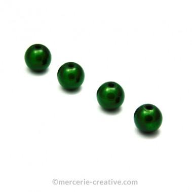 Perles magiques 6 mm vert x6