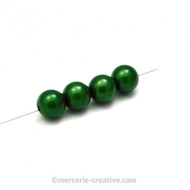 Perles magiques 4 mm vert x6