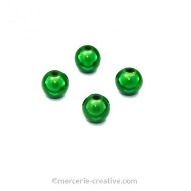 Perles magiques 8 mm vert x6