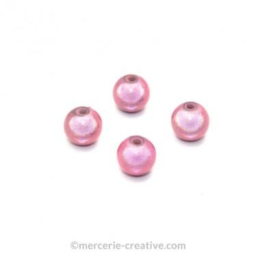 Perles magiques 8 mm rose x6