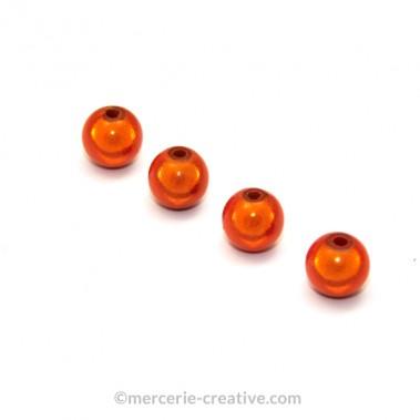 Perles magiques 6 mm orange x6