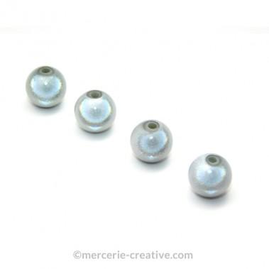 Perles magiques 6 mm gris x6