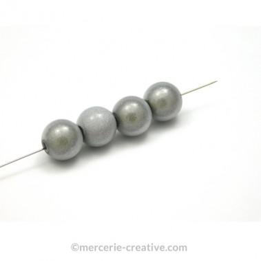 Perles magiques 10 mm gris x4