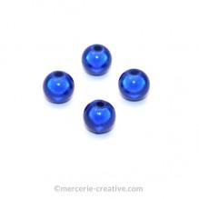 Perles magiques 8 mm bleu x6