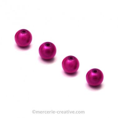 Perles magiques 6 mm fushia x6