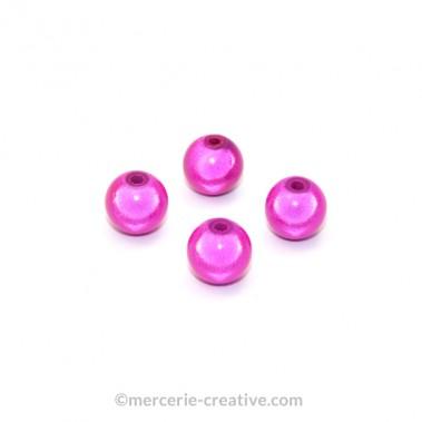 Perles magiques 8 mm fushia x6