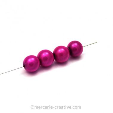 Perles magiques 10 mm fushia x4