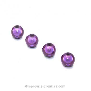 Perles magiques 6 mm violet x6