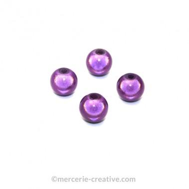 Perles magiques 8 mm violet x6