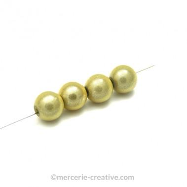 Perles magiques 4 mm ivoire x6