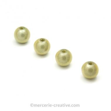 Perles magiques 6 mm ivoire x6