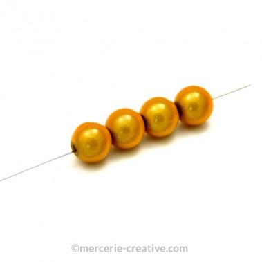 Perles magiques 4 mm doré x6