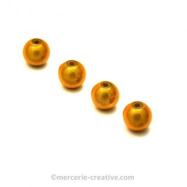 Perles magiques 6 mm doré x6