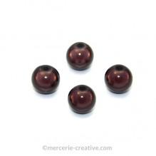 Perles magiques 8 mm marron x6