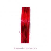 Fil cablé crinelle rouge 0.45 mm x1M