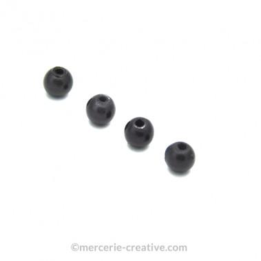 Perles magiques 6 mm gris foncé x6
