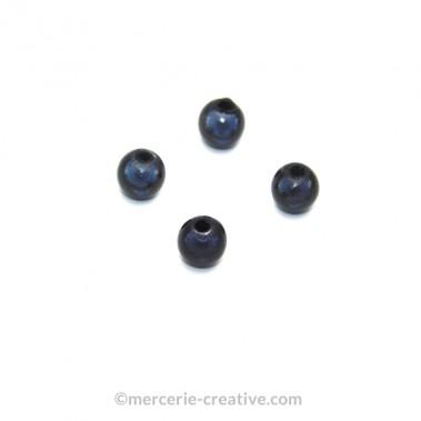 Perles magiques 8 mm gris foncé x6