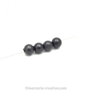 Perles magiques 10 mm gris foncé