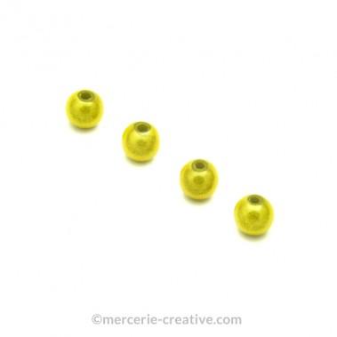 Perles magiques 6 mm vert tilleul x6