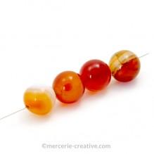 Perle agate rouge semi précieuse