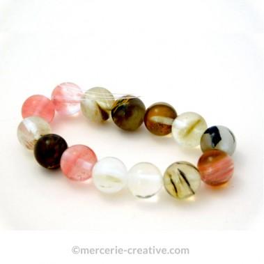 Bracelet-perle-semi-precieuse-agate-pasteque