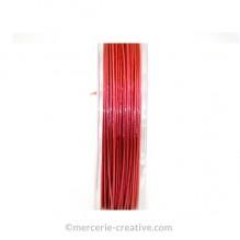 Fil cablé crinelle rose 0.45 mm x1M