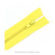 Fermeture à glissière jaune - 19,5 cm