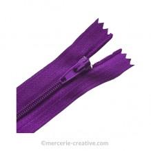 Fermeture à glissière violet - 19,5 cm