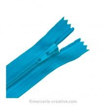 Fermeture à glissière turquoise - 19,5 cm