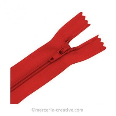 Fermeture à glissière rouge - 19,5 cm