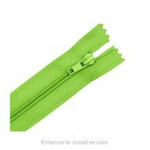 Fermeture à glissière vert pomme - 19,5 cm