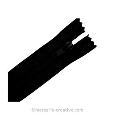 Fermeture à glissière noir - 19,5 cm