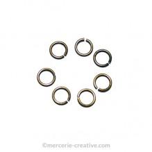 Anneaux ouverts bronze 5mm x30