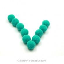 Pompons vert souples x10