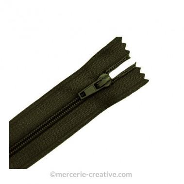 Fermeture à glissière kaki - 19,5 cm