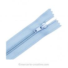 Fermeture à glissière bleu ciel - 19,5 cm