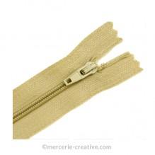 Fermeture à glissière beige - 19,5 cm