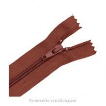 Fermeture à glissière marron - 19,5 cm