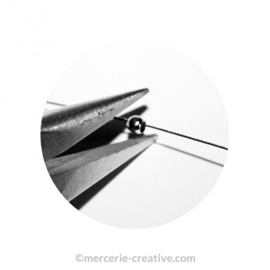 Perles à écraser argenté 1,5 mm x50