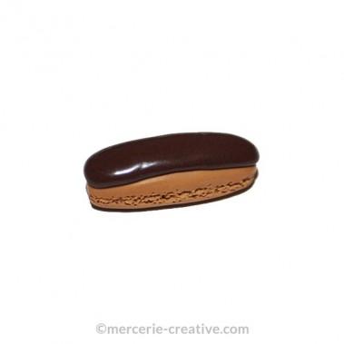 Perle Fimo éclair au chocolat 3 cm