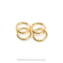 anneau ouvert dore 6 mm
