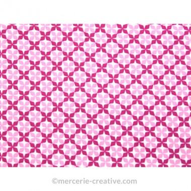 Coupon de tissu rose et fushia
