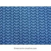 Coupon de tissu vagues bleues 50x70cm