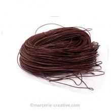 Cordon coton ciré brun 1mm x1M
