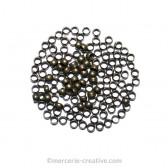 Perles à écraser bronze 2,5mm x50