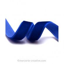 Ruban velours bleu marine 6mm x50cm