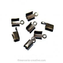 Embouts pour lacet en cuir 9mm bronze x20