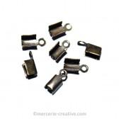 Embouts pour lacet en cuir 9 mm bronze x10